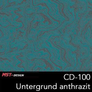 MST-Design, Wassertransferdruck, Folie CD-100, Untergrund anthrazit