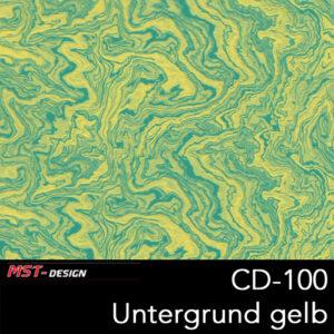 MST-Design, Wassertransferdruck, Folie CD-100, Untergrund gelb