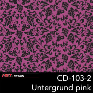 MST-Design, Wassertransferdruck, Folie CD-103-2, Blumen Style, Untergrund pink
