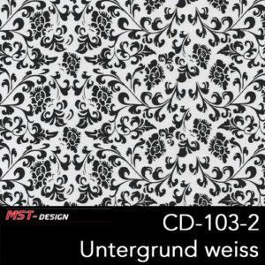 MST-Design, Wassertransferdruck, Folie CD-103-2, Blumen Style, Untergrund weiß
