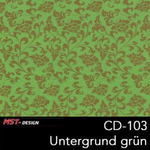 MST-Design, Wassertransferdruck, Folie CD-103, Blumen Style, Untergrund grün