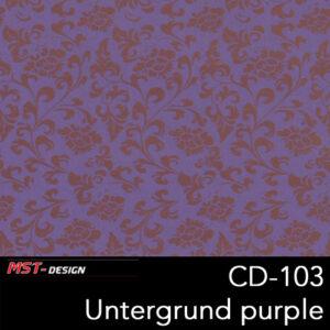 MST-Design, Wassertransferdruck, Folie CD-103, Blumen Style, Untergrund purple