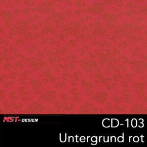 MST-Design, Wassertransferdruck, Folie CD-103, Blumen Style, Untergrund rot
