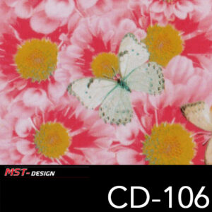 MST-Design, Wassertransferdruck, Folie CD-106, Blumen Style