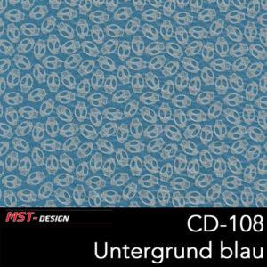 MST-Design, Wassertransferdruck, Folie CD-108, Untergrund blau