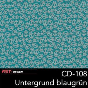 MST-Design, Wassertransferdruck, Folie CD-108, Untergrund blaugrün