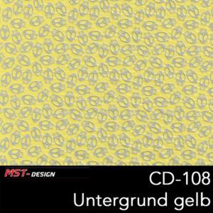 MST-Design, Wassertransferdruck, Folie CD-108, Untergrund gelb