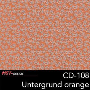 MST-Design, Wassertransferdruck, Folie CD-108, Untergrund orange