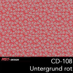 MST-Design, Wassertransferdruck, Folie CD-108, Untergrund rot