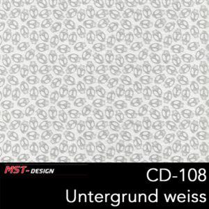MST-Design, Wassertransferdruck, Folie CD-108, Untergrund weiß