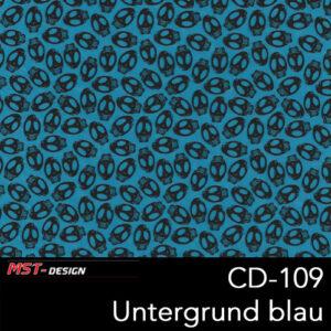MST-Design, Wassertransferdruck, Folie CD-109, Untergrund blau