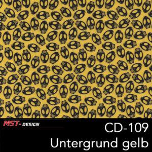 MST-Design, Wassertransferdruck, Folie CD-109, Untergrund gelb
