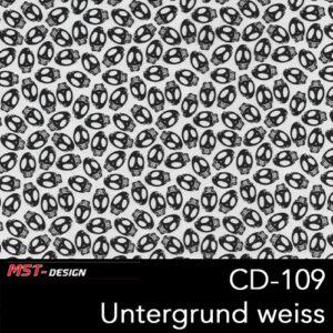 MST-Design, Wassertransferdruck, Folie CD-109, Untergrund weiß