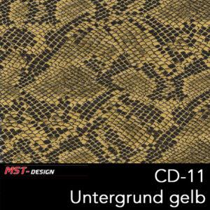 MST-Design, Wassertransferdruck, Folie CD-11, Untergrund gelb
