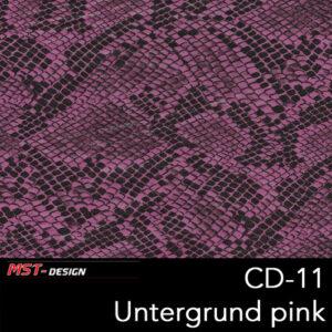 MST-Design, Wassertransferdruck, Folie CD-11, Untergrund pink