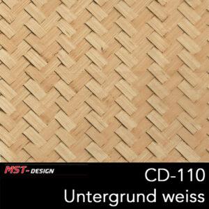 MST-Design, Wassertransferdruck, Folie CD-110, Untergrund weiß