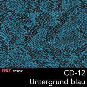 MST-Design, Wassertransferdruck, Folie CD-12, Untergrund blau