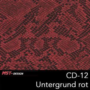MST-Design, Wassertransferdruck, Folie CD-12, Untergrund rot