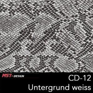MST-Design, Wassertransferdruck, Folie CD-12, Untergrund weiß