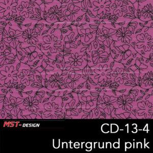 MST-Design, Wassertransferdruck, Folie CD-13-4, Blumen Style, Untergrund pink