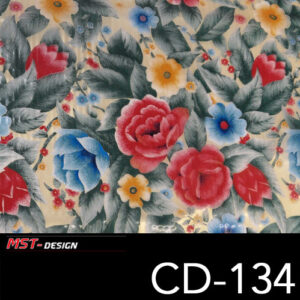 MST-Design, Wassertransferdruck, Folie CD-134, Blumen Style