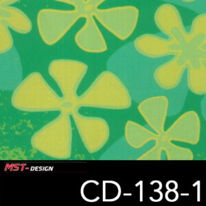 MST-Design, Wassertransferdruck, Folie CD-138-1, Blumen Style