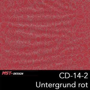 MST-Design, Wassertransferdruck, Folie CD-14-2, Blumen Style, Untergrund rot