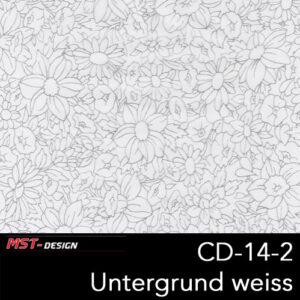 MST-Design, Wassertransferdruck, Folie CD-14-2, Blumen Style, Untergrund weiß