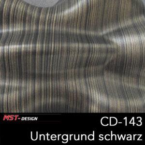MST-Design, Wassertransferdruck, Folie CD-143, Untergrund schwarz