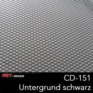 MST-Design, Wassertransferdruck, Folie CD-151, Untergrund schwarz