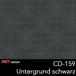 MST-Design, Wassertransferdruck, Folie CD-159, Untergrund schwarz