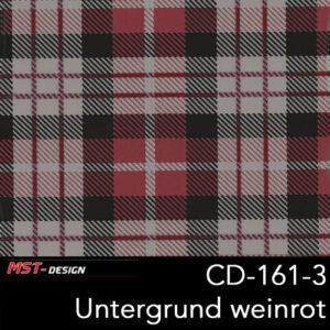 MST-Design, Wassertransferdruck, Folie CD-161-3, Untergrund weinrot