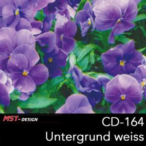 MST-Design, Wassertransferdruck, Folie CD-164, Blumen Style, Untergrund Weiß