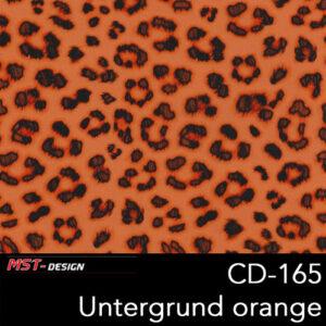 MST-Design, Wassertransferdruck, Folie CD-165, Untergrund orange