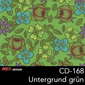 MST-Design, Wassertransferdruck, Folie CD-168, Blumen Style, Untergrund grün