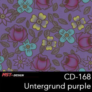 MST-Design, Wassertransferdruck, Folie CD-168, Blumen Style, Untergrund purple