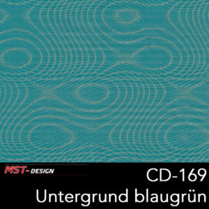 MST-Design, Wassertransferdruck, Folie CD-169, Untergrund blaugrün