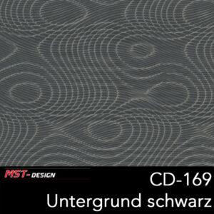 MST-Design, Wassertransferdruck, Folie CD-169, Untergrund schwarz