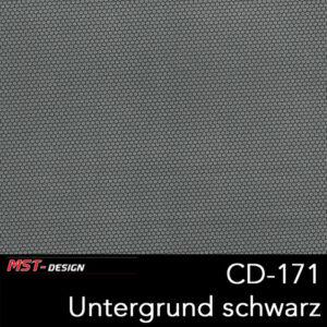 MST-Design, Wassertransferdruck, Folie CD-171, Untergrund schwarz