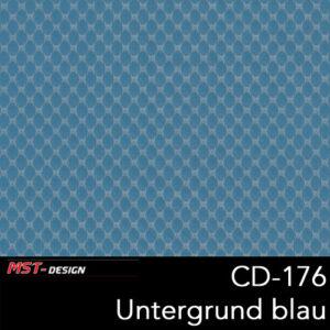 MST-Design, Wassertransferdruck, Folie CD-176, Untergrund blau