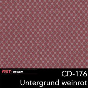 MST-Design, Wassertransferdruck, Folie CD-176, Untergrund weinrot
