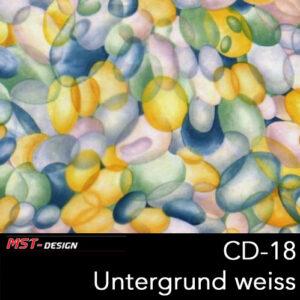 MST-Design, Wassertransferdruck, Folie CD-18, Untergrund weiß