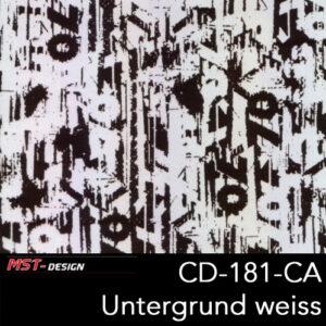 MST-Design, Wassertransferdruck, Folie CD-181-CA, Untergrund weiß