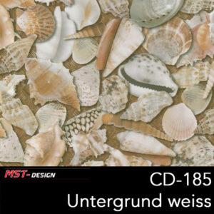 MST-Design, Wassertransferdruck, Folie CD-185, Untergrund weiß