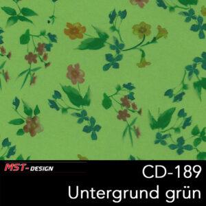 MST-Design, Wassertransferdruck, Folie CD-189, Blumen Style, Untergrund grün