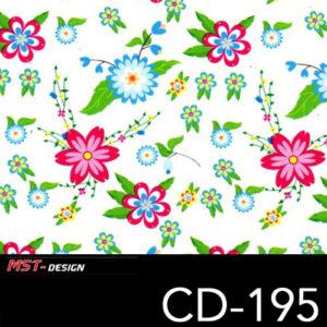 MST-Design, Wassertransferdruck, Folie CD-195, Blumen Style