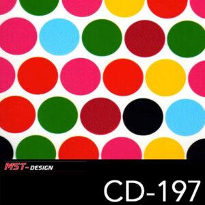 MST-Design, Wassertransferdruck, Bunte Kreise, Folie CD-197
