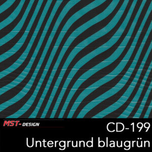 MST-Design, Wassertransferdruck, Folie CD-199, Untergrund blaugrün