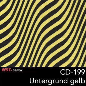 MST-Design, Wassertransferdruck, Folie CD-199, Untergrund gelb