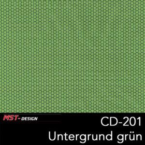 MST-Design, Wassertransferdruck, Folie CD-201, Untergrund grün